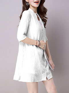 Casual Women Pure Color Two Piece Vest Suit With Half Sleeve Sunscreen Shirt