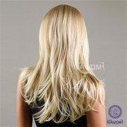 NAWOMI завитые Длинные 100% Kanekalon блондинку парик волос Синтетический Волнистые Женщины монолитным