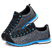 Mesh Honeycomb Breathable Lace Up Metal Sport Jogging Outdoor Shoes