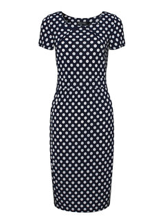 Polka Dots Stitching Short Sleeve Party Women  Dress