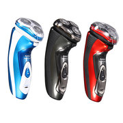 Kemei KM-5880 220V Rotary Electric Washable Razor Rechargeable Shaver