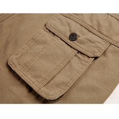 ChArmkpR Причинное Multi-карман Открытый Сыпучие сплошной цвет плюс размер Хлопок штанах для мужчин