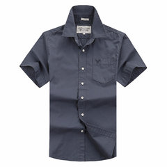 Summer Mens Casual Outdoor Solid color Cargo Shirt Quick-drying Short Sleeve Shirts