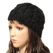 Knit Crochet Hat Winter Warm Braided Baggy Beret Beanie Cap