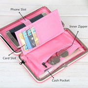 Women Girl PU Leather Wallet Long Card Holder Phone Case