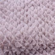 Women Winter Warm Infinity Circle Cable Knit Cowl Neck Faux Fur Scarf Shawl