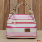 Women Insulated Canvas Stripe Carry Bag