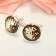 Flowers Pattern Steampunk Watch Glass Cabochon Art Picture