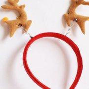 Cute Christmas Decoration Unisex Double Deerlet Hair Band