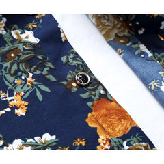 S-5XL Plus Size Casual Fashion Floral Printing Long Sleeve Dress Shirt For Men