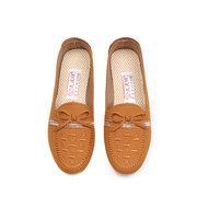 Paillette Bowknot Embroidery Flat Slip On Lazy Loafers