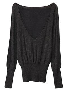 Женщины Sexy Сыпучие шею длинным рукавом Холтер Knit шерсти Блуза