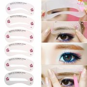 24 Styles Grooming Brow Painted Stencil Eyebrow Shaping DIY Beauty Make Up Tool