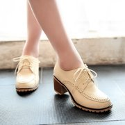 Big Size Casual Square Heel British Style Oxofrd Shoes