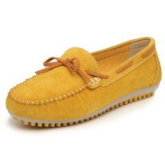 Women Leather Leisure Butterfly Knot Flat Shoes