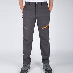 Mens Outdoor Thin Light Soft Shell Weight Waterproof Quick-Dry Breathable Climbing Sport Pants