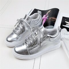 Bling Athletic Platform Casual Lace Up Training Walking Flat Casual Shoes