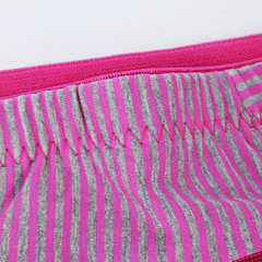 Comfy полоса хлопок трусы с карманом мягкой дышащей нижнее белье для женщин