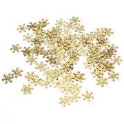 100Pcs Golden Metal DIY Nail Art Snowflake Decoration Stickers