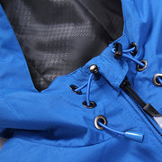 Sport Outdoor Climbing Riding Waterproof Solid Color Thin Hooded Jacket for Men