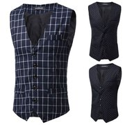 Korean Version Suit Vest Men's Spring Autunm Casual Business V-neck Suit Vest