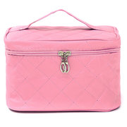 Square Folding Cosmetic Bag Toiletry Travel Makeup Nail Polish Storage Handbag