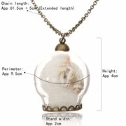Wish Bottle Glass Sweater Shell Necklace