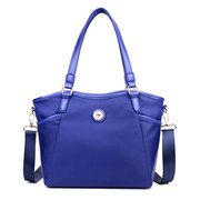 Women Nylon Large Capacity Handbag Pure Color Shoulder Bag Crossbody Bags