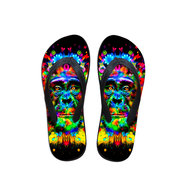 3D Colorful Print Lion Tiger Clip Toe Flip Flops Beach Outdoor Slippers