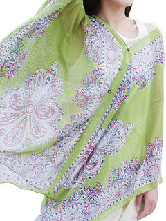 Women Sexy Printed Button Bikini Cover Up Loose Chiffon Cardigan Shawl Beachwear