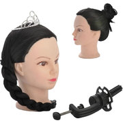 18 Inch Synthetic Hair Hairdressing Training Head Dummy With Free Clamp