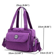 Women Nylon Light Tote Handbags Casual Shoulder Bags Outdoor Sports Crossbody Bags
