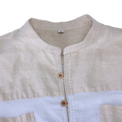 Summer Mens Chinese Style Vintage Flax Cotton Cool Short Sleeved Shirts