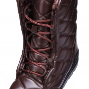 Pu Mid Calf Plaid PatternFlat Lace Up Snow Boots