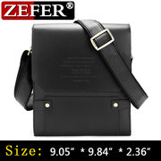 ZEFER PU Leather Bag Business Casual Men Messenger Bags Vintage Handbags Shoulder Bag