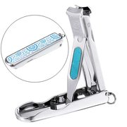 Blue and White Porcelain Portable Nail Clipper Cutter Manicure Tool Cleaner Travel Pedicure