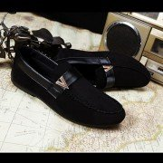 Men Canvas Pure Color Metal Korean Style Slip On Flat Casual Shoes