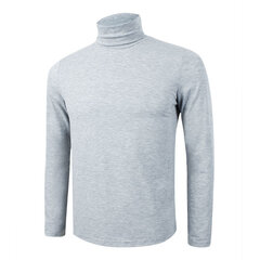 Mens Fall Winter High Collar Solid Color Slim Fit Knitted Warm Sweater Tops