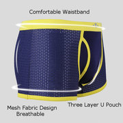 Casual Mesh Breathable Antibacterial Soft Boxers Underwear for Men