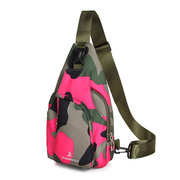 Casual Nylon Chest Bag Camouflage Outdoor Sports Crossbody Bag