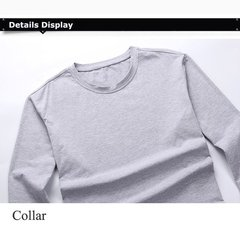 Men's Fall Winter Large Size Loose Long Sleeve Casual T-Shirt