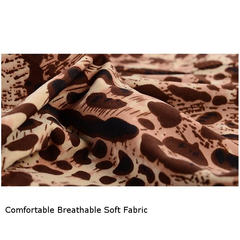 Sexy Leopard Printing Modal Underwear Thin Ice-Silk Breathable Mid-Rise U Convex Boxer For Men