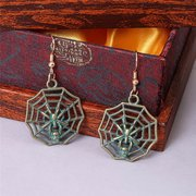 Vintage Alloy Spider Web Earrings for Women