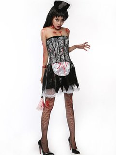 Halloween Witch Role Play Women Zombie Cosplay Sexy Outfit