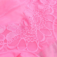 Sexy Lace Embroidery Seamless Net Yarn Transparent Breathable Panties For Women