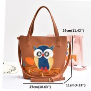 Personalized owl portable shoulder bag handbag fashion leisure crossbody bag