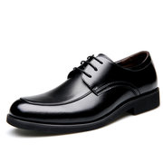 Men Pointed Toe Lace Up Formal Bussiness Leather Shoes