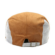 Men Women Stripe Cotton Ivy Beret Cap Newsboy Cabbie Gatsby Golf Driving Hat