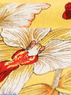 Женщины в китайском стиле цветок печати с коротким рукавом Свободные платья