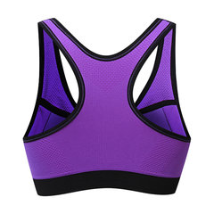 Sexy Gather Shockproof Double Layer Sports Bras Quick-dry Front Zipper Running Bra